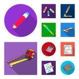 Wektorowy projekt ołówek i ostrzy symbol Kolekcja ołówek i kolor akcyjna wektorowa ilustracja royalty ilustracja