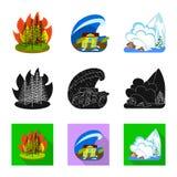 Wektorowy projekt pogody i cierpienia ikona Kolekcja pogody i trzaska akcyjny symbol dla sieci ilustracja wektor