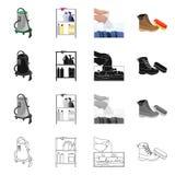 Wektorowy projekt pralniana i czysta ikona Set pralnia i odzieżowa wektorowa ikona dla zapasu ilustracji