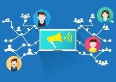 Wektorowy projekt Reklamuje Ogólnospołeczną sieć royalty ilustracja