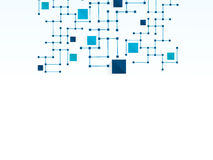 Wektorowy projekt sieci technologii medyczny tło Zdjęcia Stock