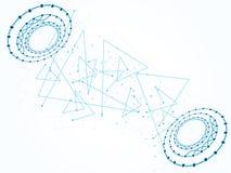Wektorowy projekt sieci technologii tło Zdjęcie Royalty Free