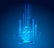 Wektorowy projekt sieci technologii tło Zdjęcia Royalty Free