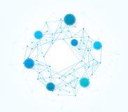 Wektorowy projekt sieci technologii tło Obrazy Stock