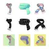 Wektorowy projekt szalika i chusty logo Kolekcja szalika i akcesorium akcyjna wektorowa ilustracja ilustracja wektor