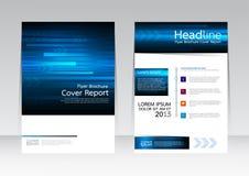 Wektorowy projekt technologii biznes dla pokrywa raportu broszurki ulotki plakata w A4 rozmiarze Fotografia Stock