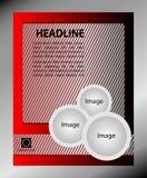 Wektorowy projekt ulotki czerwień i szarość Plakatowy szablon dla twój biznesu Fotografia Stock
