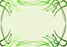 Wektorowy projekt, zieleni krzywy tła piękny czerń ramy dziury kpugloe deseniował fotografię ilustracja wektor