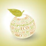 Wektorowy projekta jabłka pojęcie Zdjęcia Royalty Free