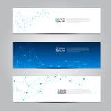 Wektorowy projekta sztandaru sieci technologii medyczny tło Zdjęcia Royalty Free