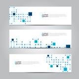 Wektorowy projekta sztandaru sieci technologii medyczny tło Obraz Royalty Free