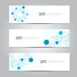 Wektorowy projekta sztandaru sieci technologii medyczny tło Fotografia Stock