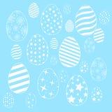 Wektorowy prosty mieszkanie wzór z ornamentacyjnymi jajkami ilustracji