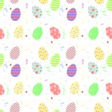 Wektorowy prosty wzór Wielkanocni jajka ilustracja wektor