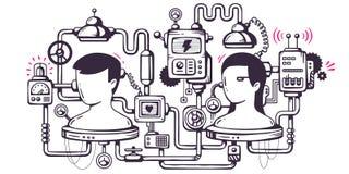 Wektorowy przemysłowy ilustracyjny tło operacyjny mecha ilustracja wektor