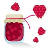 Wektorowy rapsberry dżem Ilustracja Wektor