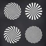 Wektorowy Ray spirali set Zdjęcia Royalty Free