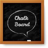 Wektorowy realistyczny chalkboard z pociągany ręcznie mową Zdjęcie Royalty Free