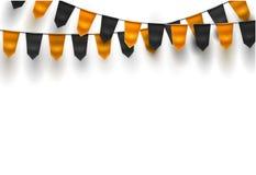 Wektorowy realistyczny chorągiewki 3d flaga Halloween wakacje ilustracja wektor