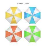 Wektorowy realistyczny parasol, podeszczowy parasolowy sunshade set round egzamin próbny up Fotografia Royalty Free