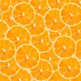 Wektorowy realistyczny pokrojony pomarańczowy bezszwowy wzór Zdjęcia Stock
