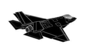 Wektorowy remis nowożytny Amerykański myśliwiec odrzutowy zdjęcia stock