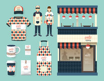 Wektorowy restauracyjny kawiarnia setu sklepu przodu projekt, ulotka, menu ilustracji