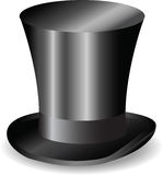Wektorowy retro czarny kapelusz royalty ilustracja