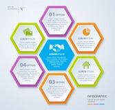 Wektorowy rhombus szablon dla infographic pojęcia prowadzenia domu posiadanie klucza złoty sięgający niebo 10 eps Fotografia Royalty Free