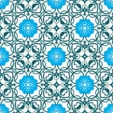 Wektorowy roczników kwiatów wzór retro bezszwowa tekstura ilustracja wektor