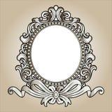 Wektorowy rocznik granicy ramy rytownictwo z retro ornamentu wektorem Obrazy Royalty Free