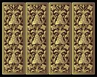 Wektorowy rocznik granicy ramy rytownictwo z retro ornamentu wektorem Fotografia Royalty Free