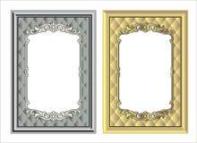 Wektorowy rocznik granicy ramy rytownictwo z retro ornamentu wektorem Zdjęcia Stock