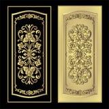 Wektorowy rocznik granicy ramy rytownictwo z retro ornamentu wektorem Zdjęcie Stock