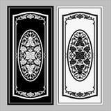 Wektorowy rocznik granicy ramy rytownictwo z retro ornamentu wektorem Fotografia Stock