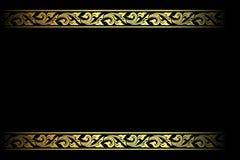 Wektorowy rocznik granicy ramy rytownictwo z retro ornamentu wektoru ilustracją Obrazy Stock