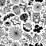 Wektorowy rocznik Halloween bezszwowy Obrazy Royalty Free