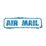 Wektorowy rocznik opłaty pocztowa lotniczej poczta znaczek Zdjęcia Royalty Free