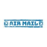 Wektorowy rocznik opłaty pocztowa lotniczej poczta znaczek Fotografia Royalty Free