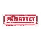 Wektorowy rocznik opłaty pocztowa prioritet poczta znaczek Zdjęcia Royalty Free
