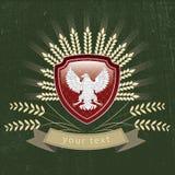 Wektorowy rocznika logo orzeł ilustracja wektor