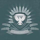 Wektorowy rocznika logo orzeł Zdjęcia Royalty Free