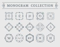 Wektorowy rocznika monograma set Fotografia Royalty Free