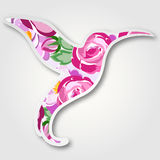 Wektorowy rocznika papieru ptak z różami dla poślubiać, małżeństwo Fotografia Royalty Free