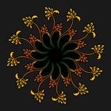 Wektorowy round ornament Zdjęcia Royalty Free