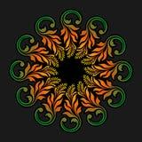 Wektorowy round ornament Obraz Stock
