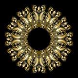 Wektorowy round ornament Zdjęcia Stock
