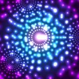 Wektorowy rozjarzony mikro kosmosu tło Zdjęcie Royalty Free