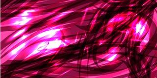 Wektorowy rozjarzony pozaziemski różowy tło lily metal wykłada Fotografia Royalty Free