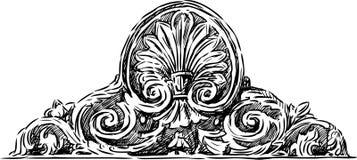 Antykwarski kartusz Obraz Royalty Free